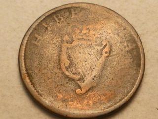 ireland eire hibernia 1804 half penny coin