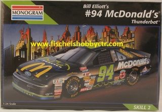 Monogram 2469 94 Bill Elliots McDonalds Thunderbat 1 24th Scale Kit