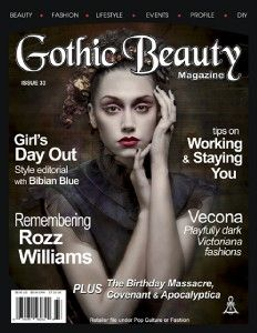 Gothic Beauty Magazine 33 Fashion Music Fantasy Art Emo