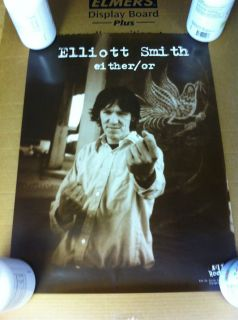 Elliott Smith Either Or Promotional Poster Elliot Super Rare Rolled