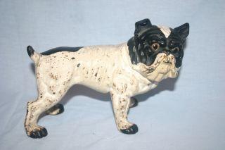 Antique Cast Iron English Bull Dog Doorstop Original Paint