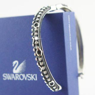 Silver Filled Swarovski Crystals Enamel Bangle Bracelet New