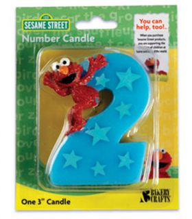 ELMO 2ND SECOND BIRTHDAY CANDLE Cake Topper Decoration Sesame Street