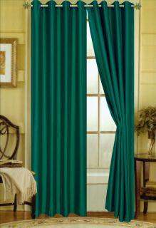 Elaine Faux Silk Essex 58 x 84 Grommet Window Panel 21 Colors 2 Pack