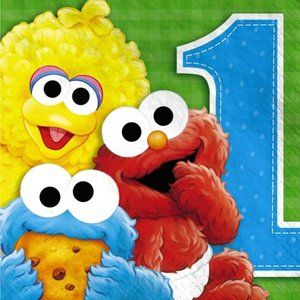 1st Birthday Sesame Street Party Decorations Elmo Wall