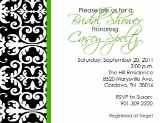 Damask Bridal Baby Shower Engagement Party Invitations