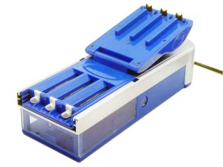 New Blue Electric Cigarette Rolling Machine 3 Injectors