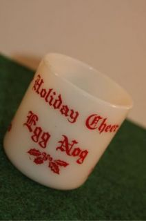 vintage holiday cheer egg nog coffee mug cup size approx 3 x 2 1 2