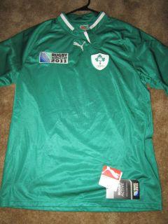 PUMA IRFU RUGBY WORLD CUP 2011 JERSEY LARGE L NWT IRELAND IRISH