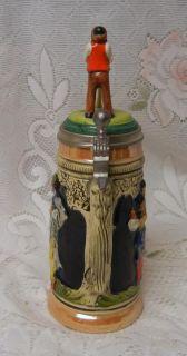 Vintage Egon Bay German Figural Lidded Beer Stein Mug