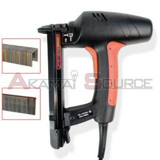 Electric Nail Gun 2 in 1 Brad Nailer Staple Power Fastener