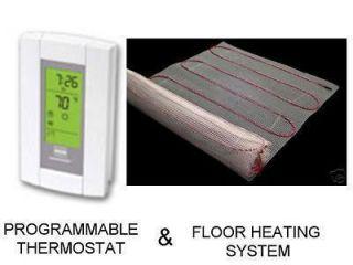 50 SQFT MAT Electric Floor Heat Tile Radiant Warm Heated with Digital