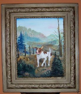 Original Painting English Pointer Bird Dog Framed