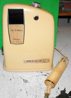 Vintage Rival Ice O Matic Electric Ice Crusher Works Great