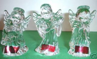 Waterford Marquis Nativity 3 PC Crystal Angel Set New
