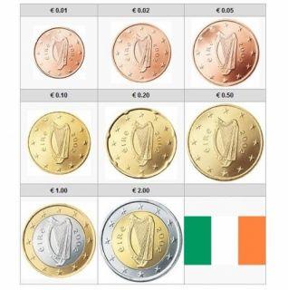 IRISH CURRENCY SET EURO COINS EIRE HARP COINS IRELAND GREAT IRISH GIFT