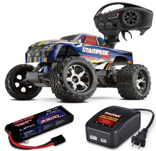 Stampede VXL Brushless Electric RTR Truck w/LiPo Battery & Charger
