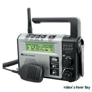 New Midland Base Camp GMRS Emergency Radio Dynamocrank NOAA Mid XT511