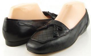 Enzo Angiolini Lizzia Black Womens Designer Bow Tassles Flats Loafers