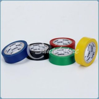 5pk Colored Electrical Tape Red Yellow Green Blue Black