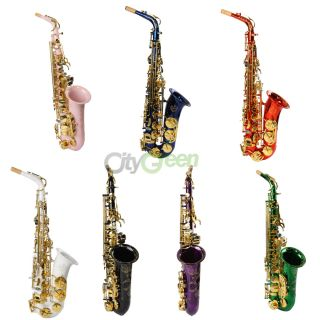 Stylish Alto EB Saxophone with Abalone Shell Buttons 7 Colors