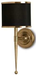 Currey Co Company Primo Wall Sconce 5021 Antique Brass Black Pair NIB