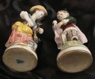 German Porcelain Figurine Statue Man WomanVolkstedt Eckert Ens c1900