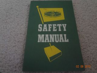 1959 Atlantic City Electric Co Safety Manual
