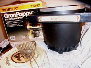 Presto Granpappy Electric Deep Fryer Vintage New in Box