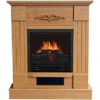 Vent Free Electric Heater Fireplace 4500 BTU Oak Mantel