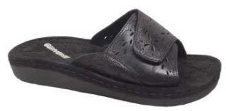New Encanto Lorna Black Leather Sandal Shoe Sandals