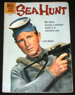 Sea Hunt 8 Dell Comics 1961 Lloyd Bridges Cover