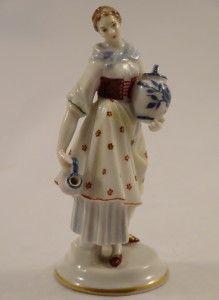Dorothea Rosenthal Lady Figurine Period Costume Motif Gustav Oppel