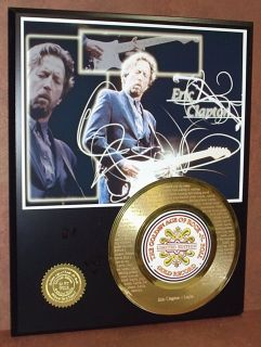 Eric Clapton Etched w Lyrics Layla 45KT Gold Record Edition