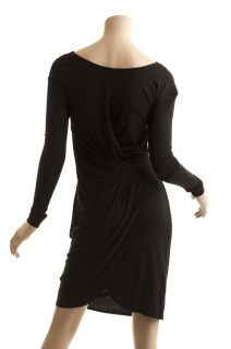 BCBG Max Azria Black Knit Wrap Dress New Size XS