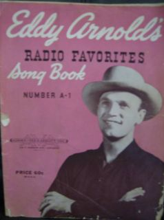 Eddy Arnolds Radio Favorites Song Book A 1 New Price