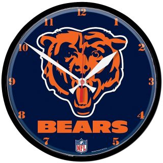 Pro Football Fan Chicago NFL Team 12 3/4 Round Clock   Bears