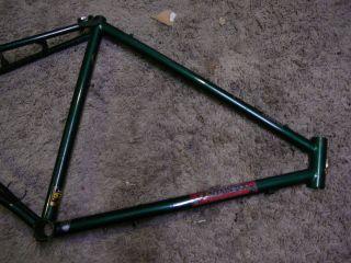 Raleigh Elk Horn Vintage Chromoly steel mountain bike frame Green