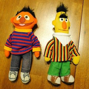 Vintage Knickerbocker Sesame Street Bert and Ernie