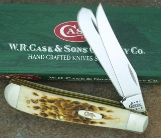Case XX 2001 Amber Bone Mini Trapper Knife 6207 SS