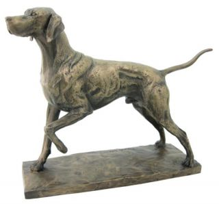 english pointer bronze statue figurine dog figure