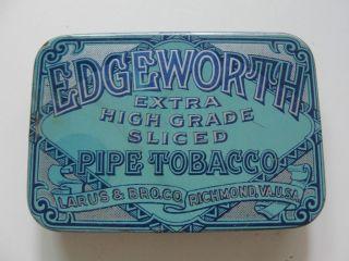 Edgeworth Pipe Tobacco Hinged Antique Advertising Tin