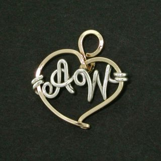 Personalized Heart Belly Charm Gold Sterling Silver