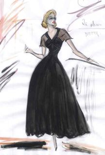 Grace Kelly Costume Sketch Rear Window Edith Head 3