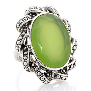 Nicky Butler 15.50ct Peri Chalcedony Sterling Silver Oval Ring