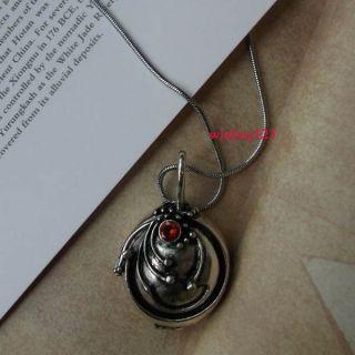 Vampire Diaries Elena Antique Vintage Vervain Silver Necklace