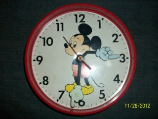 Vintage Mickey Mouse Wall Clock Welby by Elgin