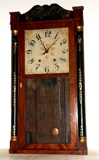 1830 Wooden Works Clock by Eli Terry