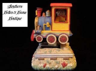Cherished Teddies Train Bear Music Box Toyland 331465