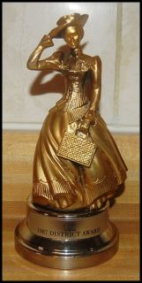 Avon 1987 District Sales Achievement Award Mrs Albee Gold Tone